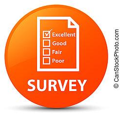 Survey (questionnaire icon) orange round button