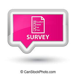Survey (questionnaire icon) prime pink banner button
