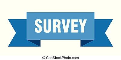survey ribbon. survey isolated sign. survey banner
