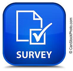 Survey special blue square button