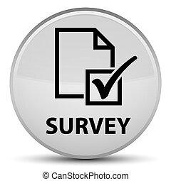 Survey special white round button