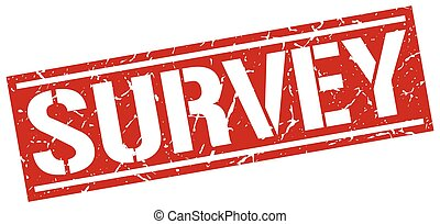 survey square grunge stamp