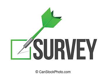 survey target illustration design over a white background