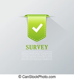Survey tick bookmark