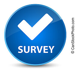 Survey (validate icon) elegant blue round button
