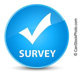 Survey (validate icon) elegant cyan blue round button
