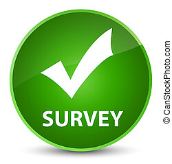 Survey (validate icon) elegant green round button