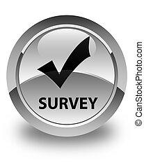 Survey (validate icon) glossy white round button