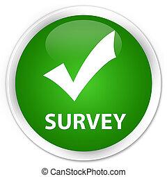 Survey (validate icon) premium green round button