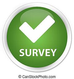 Survey (validate icon) premium soft green round button