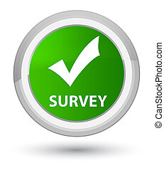 Survey (validate icon) prime green round button