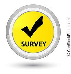 Survey (validate icon) prime yellow round button