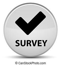 Survey (validate icon) special white round button