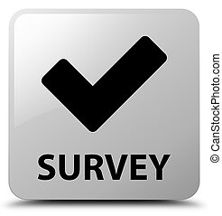 Survey (validate icon) white square button