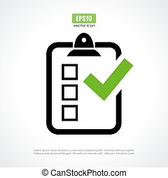 Survey vector icon on white background