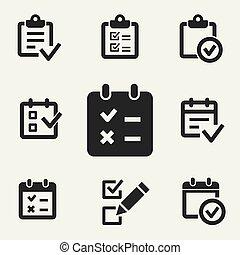 Survey vector icon.