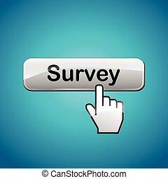 survey web button - illustration of survey web button...