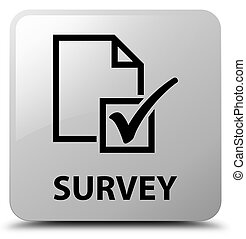 Survey white square button