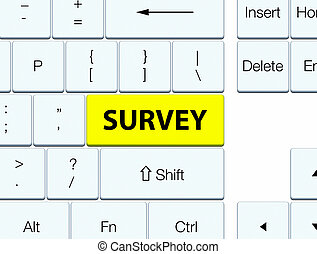 Survey yellow keyboard button