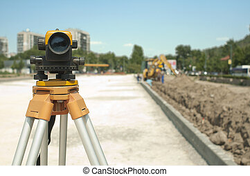 Surveying equipment to infrastructure construction project. ...