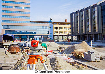 Surveying equipment to infrastructure construction project -...