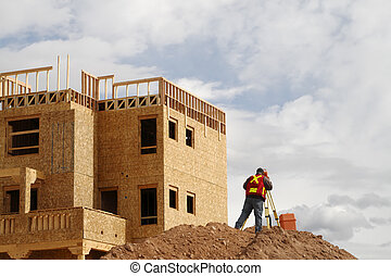 Surveying on a Construction Site