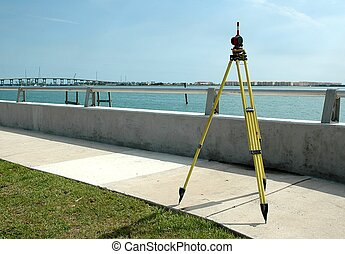 Surveying - Photographed a surveyor at a local street in ...
