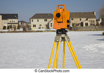 Surveying suburban area