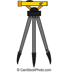Surveying tool - Cartoon illustration of a surveying tool ...