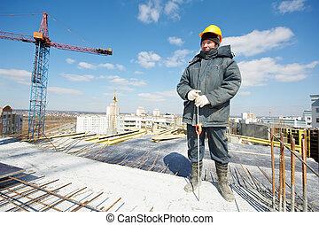 Surveyor builder at work