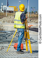Surveyor engineers working