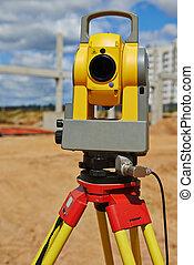 surveyor equipment theodolie outdoors - Surveyor equipment...