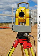 surveyor equipment theodolie outdoors - Surveyor equipment ...