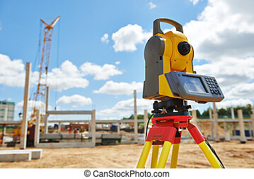 surveyor equipment theodolie outdoors - Surveyor equipment...