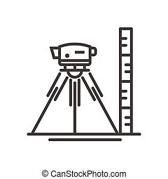 Surveyor level - vector modern line design illustrative...