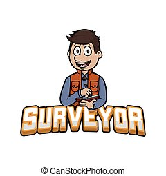 surveyor logo illustration design