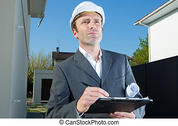 surveyor of a residential area
