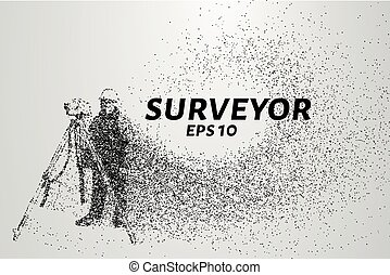 Surveyor of the particles. Surveyor consists of dots and...