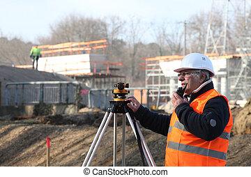 Surveyor on site