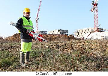Surveyor setting-up equipment