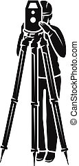 Surveyor view from the front icon, simple style - Surveyor...