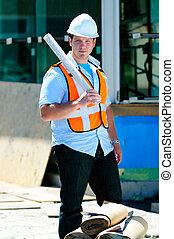 Surveyor With Plans
