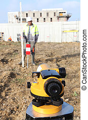 Surveyor working on site