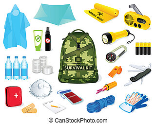 Survival kit - Backpack and survival kit in case of the...