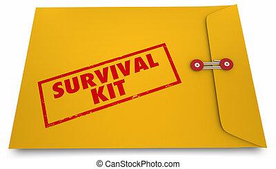 Survival Kit Doomsday Information Envelope 3d Illustration