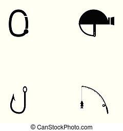 survival kit icon set