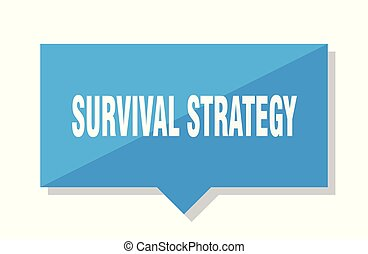 survival strategy price tag - survival strategy blue square...
