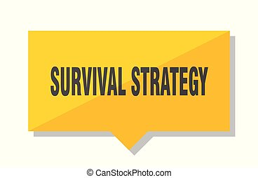 survival strategy price tag - survival strategy yellow...