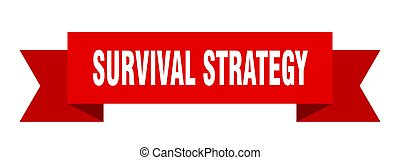 survival strategy ribbon. survival strategy paper band ...