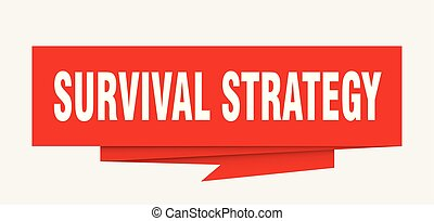 survival strategy sign. survival strategy paper origami...